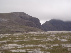 The view of An Teallach form the walk to Shenevall