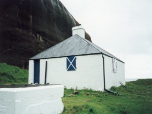 The Coruisk Hut in the heart of the Cuillins