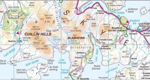 Map of the area in Skye.