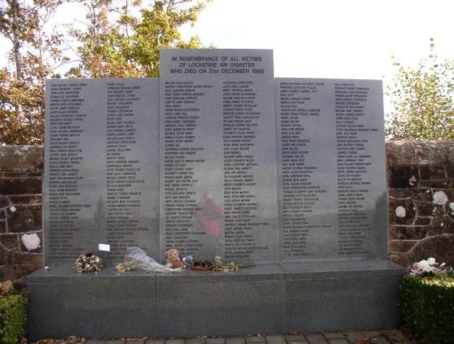 The Memorial at Lockerbie.