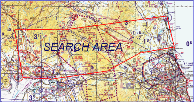 Search area 1500 kilometres!