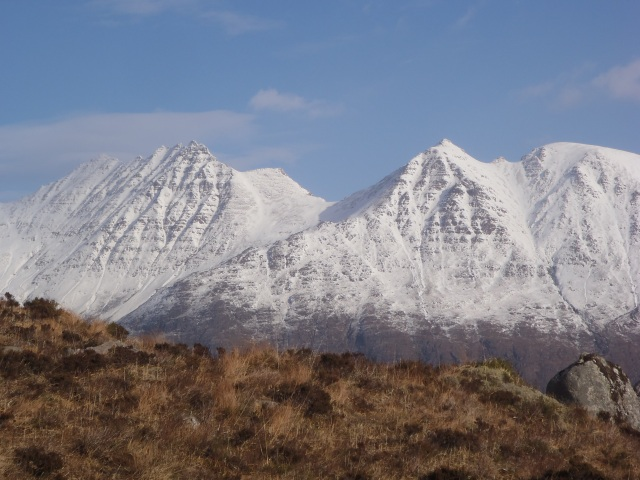 the rarely seen other side of An Teallach one of the best views in the West coast of Scotland.
