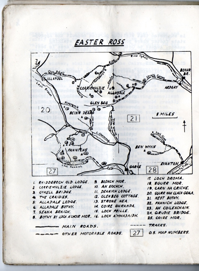 1966 Easter Ross Map