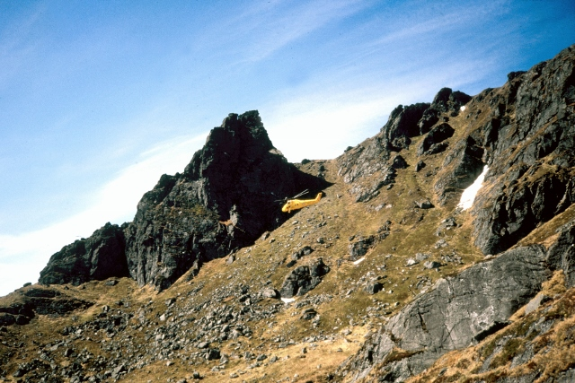 The mighty Wessex in action on the Cobbler in Southern Scotland.