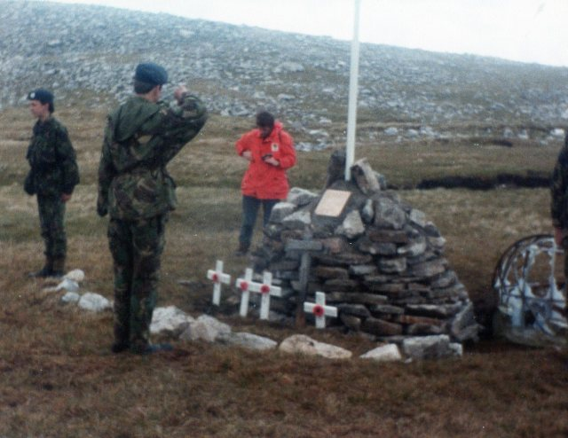 1985 ATC at the new Memorial in Assynt.