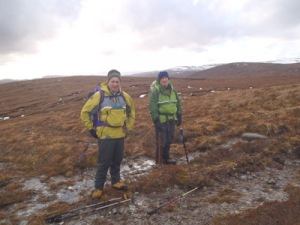 The track from Strathvaick Lodge was not recommended very wet and muddy after a huge thaw.