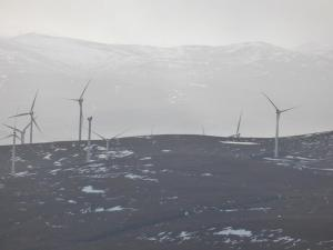 Windfarms near the Aultguish Inn visable for most of the day. Nature takes a life time to share it beauty man and technology can spoil it so quickly?
