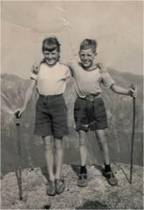 Early family days - On the Arran Ridge