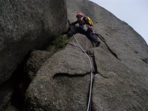 The South ridge Direct on Cir Mor a classic on Arran Granite
