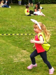 Lexi running at Sports Day - worth the drive!