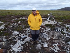 At the wreckage site
