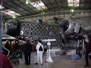 The framework of the Wellington aircraft.