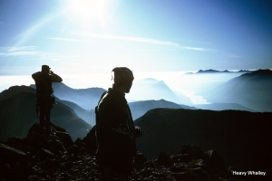 """1984 A great day after climbing in the bowels of Glencoe """"Crypt Route"""" with Chalky White."""