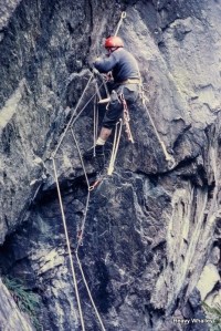 Mid 60's Aid Climbing Loch Duncheltaig near Inverness - Draculla