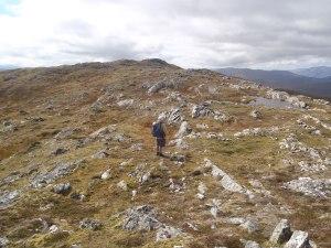 Lovely ridge walking to the summit of Carn A Chuilinn.