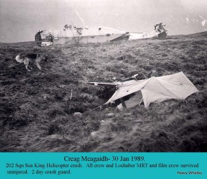Teallach at the Crash site on Creagh Meaghaidh with tent.