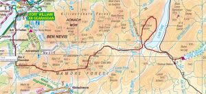 Map 4 - Fort William to Corrour.