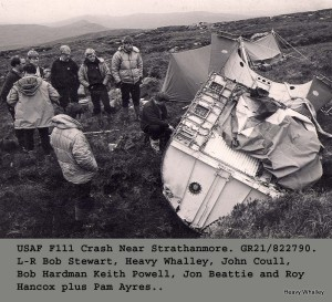 The F111 Capsule in Strathconnon we were expecting to find the crew alive in Skye this was not too be.