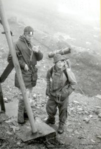 1976 Starting the day in the rain just what we needed on Meall a Bhuirdh