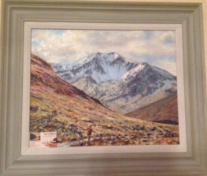 Ben Lui a favourie painting by Terry Moore pride of place in my living room.
