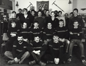 RAF Valley 1981 Jock next to Alaister Haveron who is to my right he is in the middle of us!