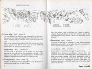 The old guide with its cliff s and grades.