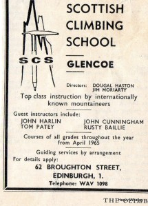 1965 Glencoe School of Mountaineering