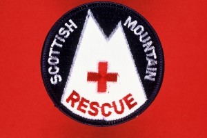 The Old Scottish Mountain Rescue Badge with the Red Cross!
