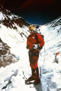 1986 Big Al high on Everest West Ridge