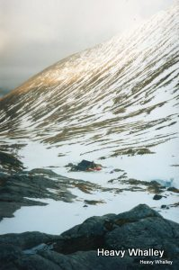 The CIC Hut in inter below the great North Face