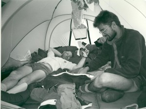 1993 Poor Willie shared a tent with me for 4 weeks on this trip.