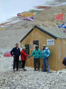 2001 - The Shed Handed over to the local Tibetans and Russel Brice