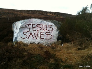 The well kent Jesus Stone on the Dava Moor.