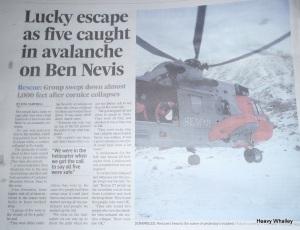 Lucky Escape Ben Nevis