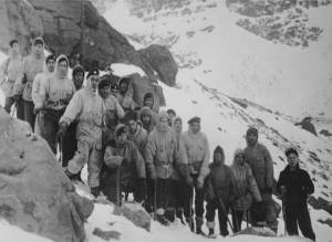 "The 1951 RAF Kinloss Team on the Beinn Eighe Callout - photo Joss Gosling one of the team on the callout "" We follow in the footsteps of giants"""