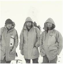 The Three Amigos during the Winter West to East many years ago - absolutely exhausted after 3 weeks of wild weather. Now a bit different.