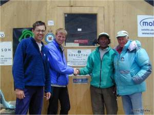 The Shed handed over at the end to the local Tibetans for a hospital..