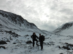 The Bairns looking towards Lurchers  Crag