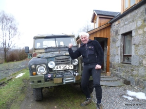 Mick Tighe - Marine , Mountain Guide, Rescuer , character with his beloved land rover and winch ! What a man have a look at the Scottish Mountain Heritage Collection.