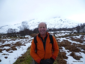 Sandy Allen one of Scotland's finest mountaineers on the way down with the Avalanche report for the day. Read about his story on Nanga Parbet one of the most amazing mountain adventures ever!.