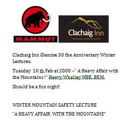 Clachaig Lecture