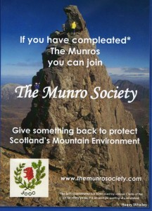 Done the Munros - why not give something back - join the Munro Society.