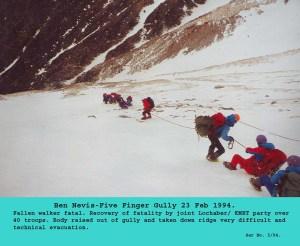 1994 5 finger gully evacuation