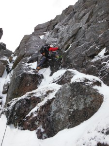 Jimmy on the tricky moves of Rampant in the Cairngorms.