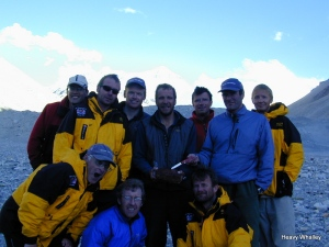 Elma's famous cake on Everest 2001.