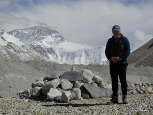 Heavy at the Boardman Tasker Memorial in Tibet.