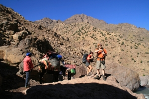 On route to Toubkal