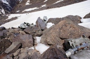 Aircraft Wreckage on Toubkal.