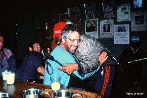Great bonds with the people of Nepal - 1990 after an epic with the porters getting back to safety and Lucklow !