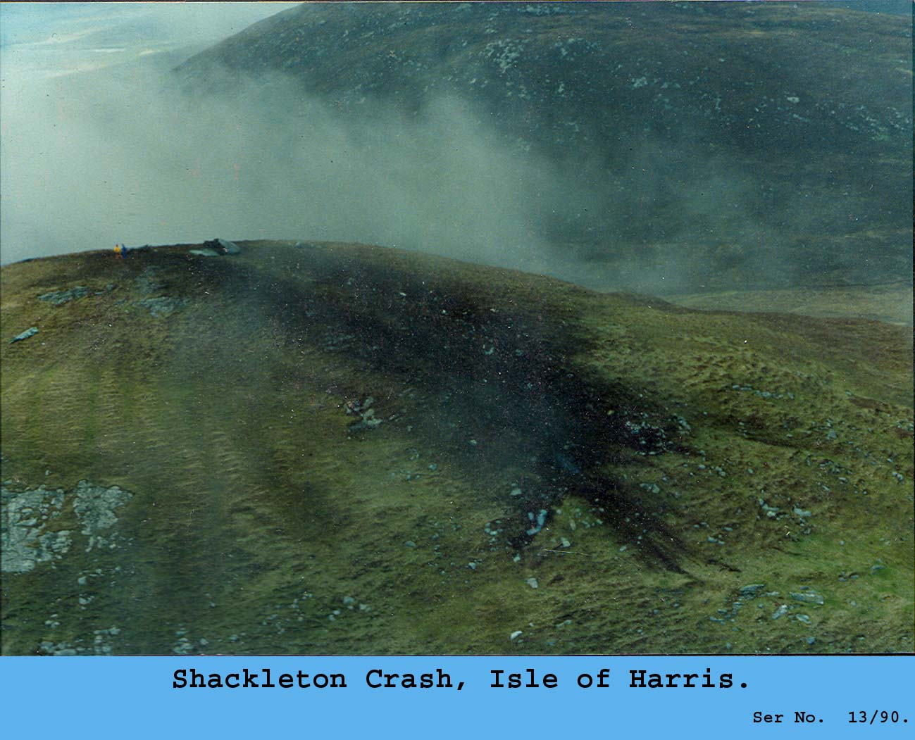 The Shackelton Crash 25 Years On Lest We Forget Heavywhalley Crashed Aircraft Beacon As Neared Site Noise From Beacons Was Intense And Feared Worst Had Occurred Near Village Of Northton A Small